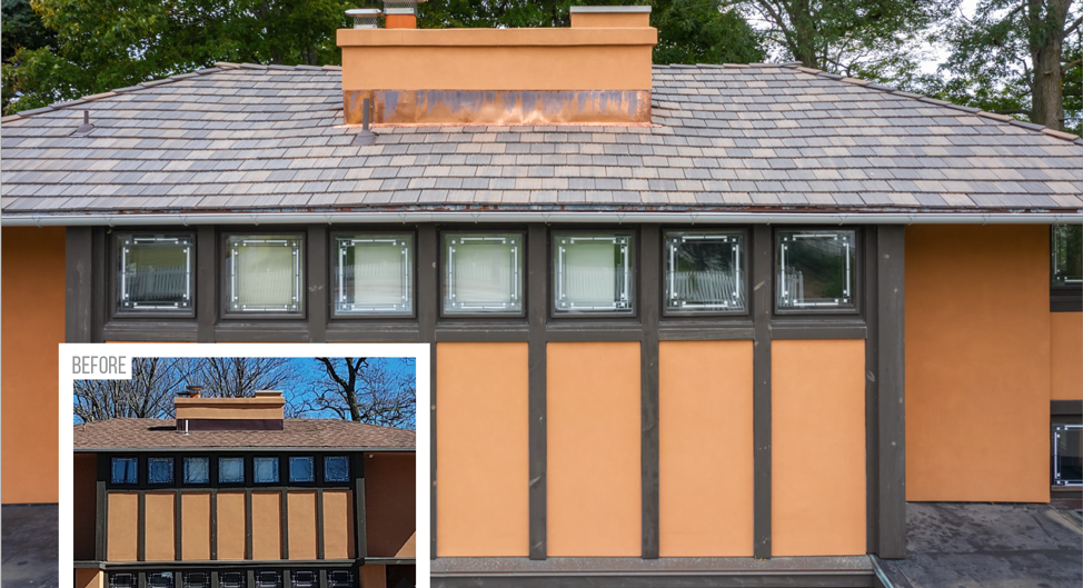 Frank Lloyd Wright Roof Restoration Project